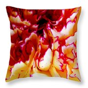 Color In A Carnation Throw Pillow