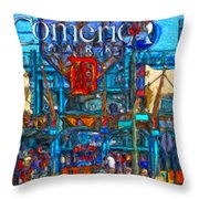 Color In Comerica Throw Pillow