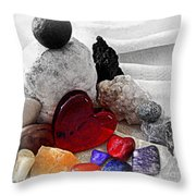 Color In The Midst Throw Pillow