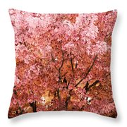 Color In The Tree 03 Throw Pillow