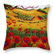 Color In The Vineyards Throw Pillow