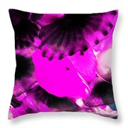 Color Infared Glass Flowers Throw Pillow