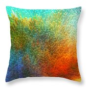Color Infinity - Abstract Art By Sharon Cummings Throw Pillow by Sharon Cummings