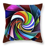 Color Me Again Throw Pillow
