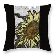 Color Me Sunflower Throw Pillow