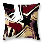 Color Melted Star Throw Pillow