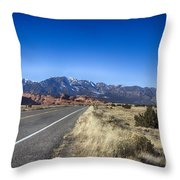Color My Road V2 Throw Pillow
