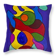 Color My World Bright Throw Pillow