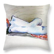 Color Nude #1 Throw Pillow