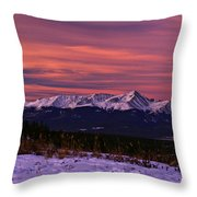 Color Of Dawn Throw Pillow