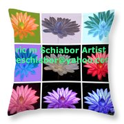 Color Of Lilies Throw Pillow