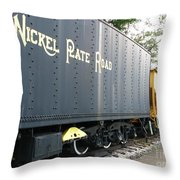 Color Of Nickel Throw Pillow