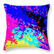 Color Of Rain Abstract Throw Pillow