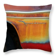 Color Of Rust Throw Pillow