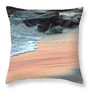Color Of Sand Cape May Nj Throw Pillow