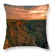 Color Of The Grand Canyon South Rim V8 Throw Pillow