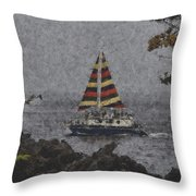 Color Of The Sails Throw Pillow
