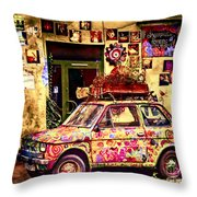 Color On The Road In Krakow- Poland Throw Pillow