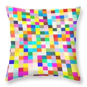 Color Quilt Throw Pillow