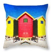 Color Reflected Throw Pillow