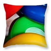 Color Rings Throw Pillow