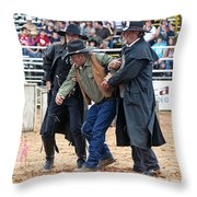 Color Rodeo Shootout Deputies Arrest Outlaw Throw Pillow