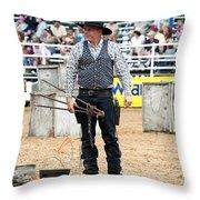 Color Rodeo Shootout Gunslinger Throw Pillow