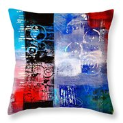 Color Scrap Throw Pillow by Nancy Merkle