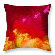 Color Shock 4 - Vibrant Digital Painting Throw Pillow by Sharon Cummings
