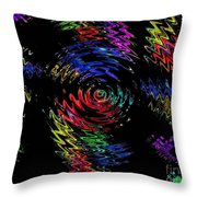 Color Spin Throw Pillow