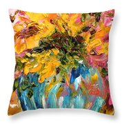 Color Splash Throw Pillow by Barbara Pirkle