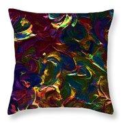 Color Splash V Throw Pillow
