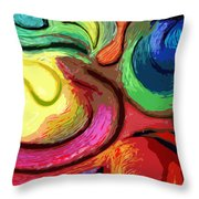 Color Swirl Throw Pillow
