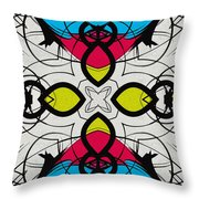 Color Symmetry 3 Throw Pillow