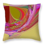 Color Symphony Throw Pillow