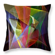 Color Symphony Throw Pillow