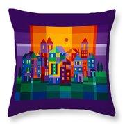 Color Town Throw Pillow