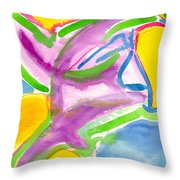 Color Triangles Throw Pillow
