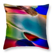 Color Wall Throw Pillow