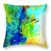 Color Wash Abstract Throw Pillow