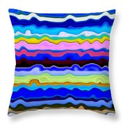 Color Waves No. 4 Throw Pillow