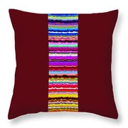 Color Waves No. 6 Throw Pillow
