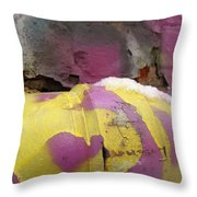 Color With Snow Throw Pillow