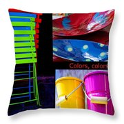 Color Your Life 1 Throw Pillow
