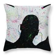 Color Your World Throw Pillow