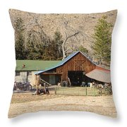 Colorado Barn Throw Pillow