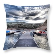 Colorado Boating Throw Pillow