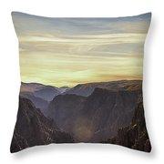 Colorado Canyon Morning Throw Pillow