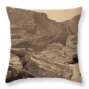 Colorado Canyons, 1872 Throw Pillow