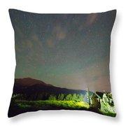 Colorado Chapel On The Rock Dreamy Night Sky Throw Pillow